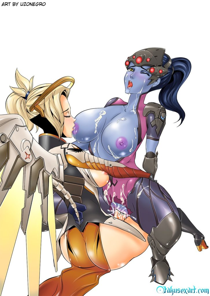 Uzonergro - Mercy Futa Widowmaker Overwatch porn cartoon rule 34 hentai nudes