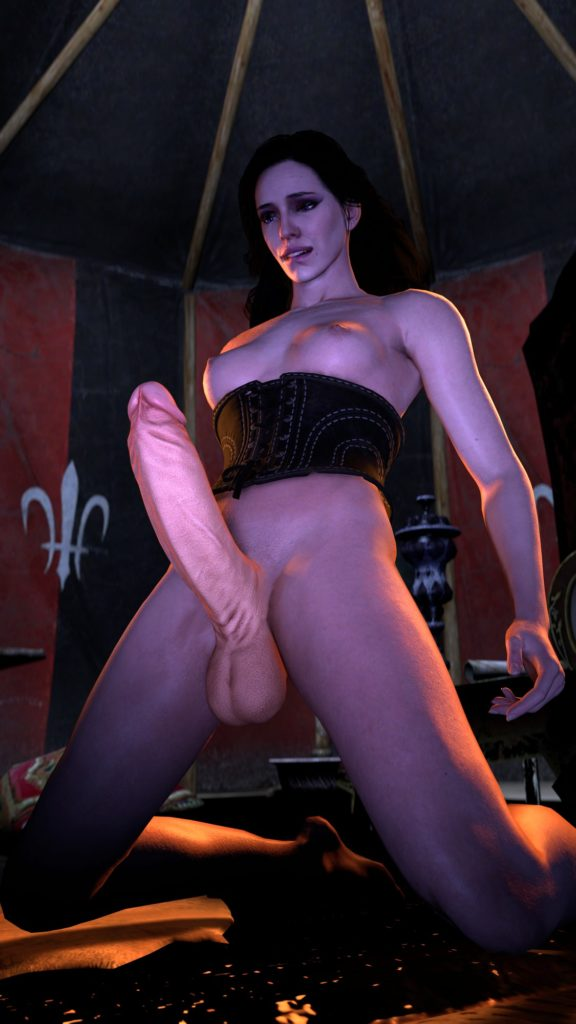 Ganonking - Futa Yennefer's big hard erect cock The Witcher hentai 3d porn rule 34