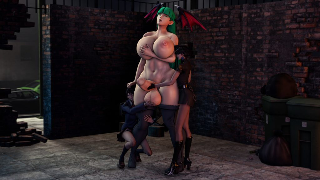 Garean - Giant futa Morrigan Anesland with Bayonetta hentai rule 34 porn