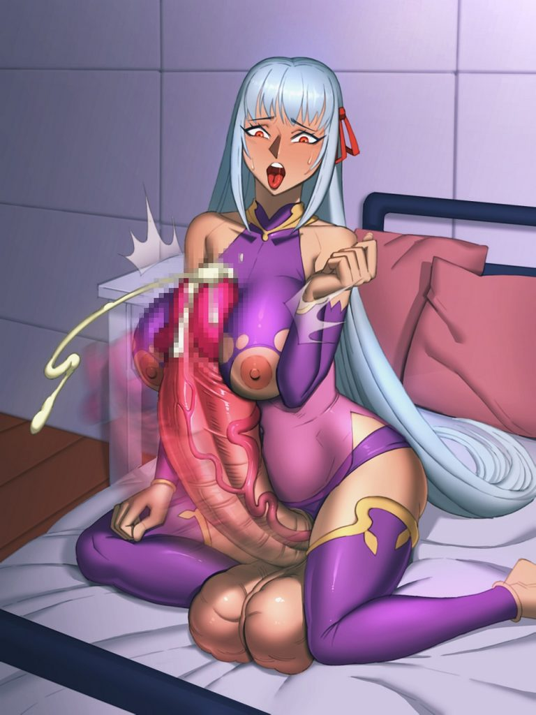 Lycra - Futa Kama cumming with huge dick Fate Grand Order hentai porn