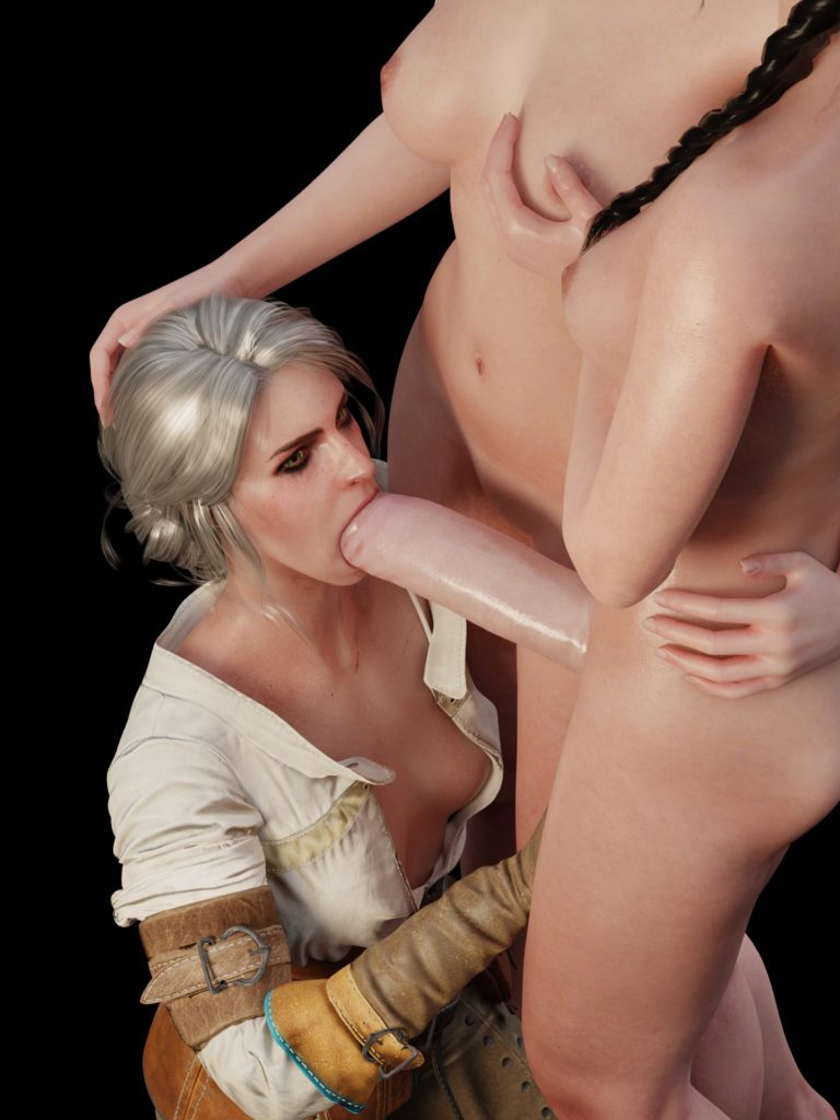 Niodreth - Hypnotized Ciri sucking futa dick The Witcher hentai 3d porn rule 34