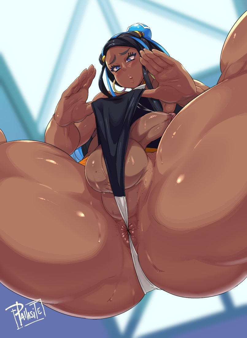 Pallasite - Thick thighs futanari Nessa from Pokemon Sword and Shield porn hentai rule 34