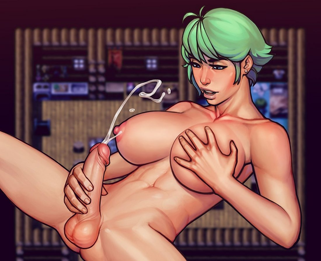 Boobsgames and warlock and boobs - Futa girl jerking off and cumming