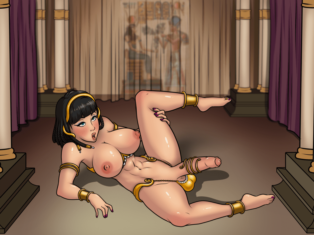 Futabox - Egyptian girl with a big futanari dick hentai porn