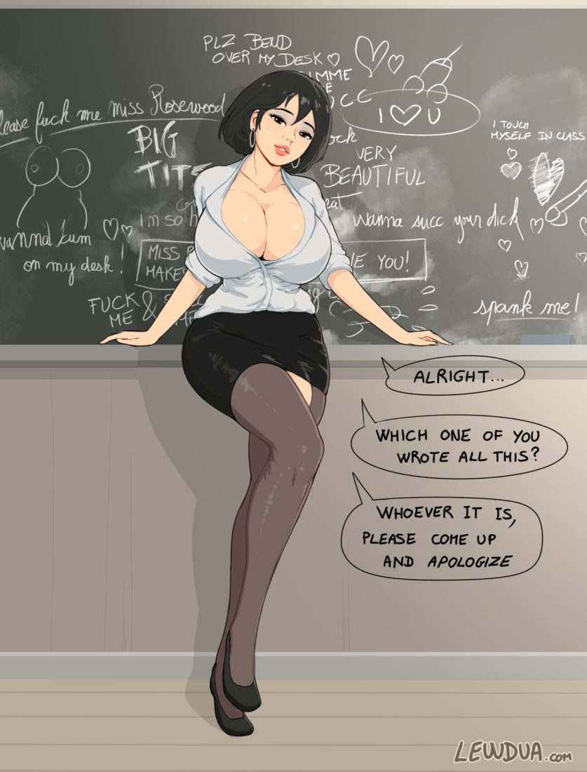 Lewdua - Hot big breasted futa teacher Morgan Rosewood Porn hentai captions