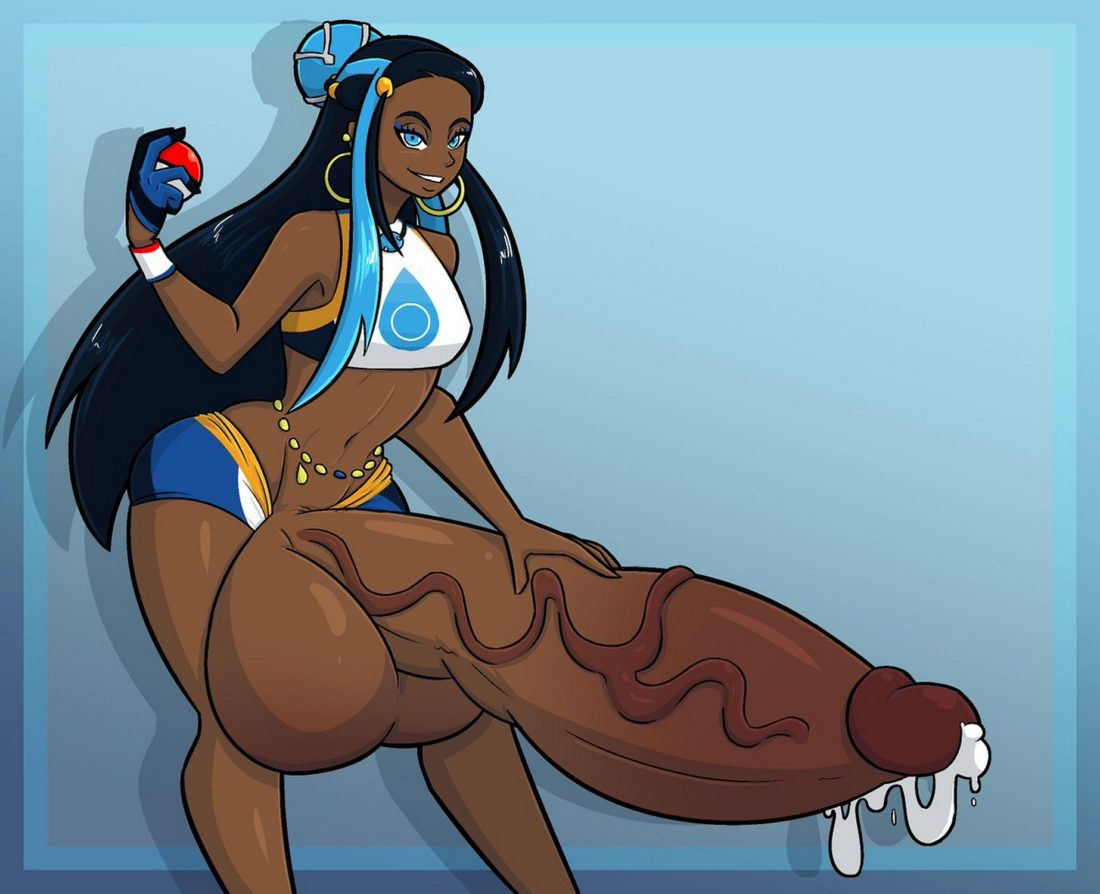 Tourin17s_art - Futanari Nessa with a giant cock pokemon porn hentai