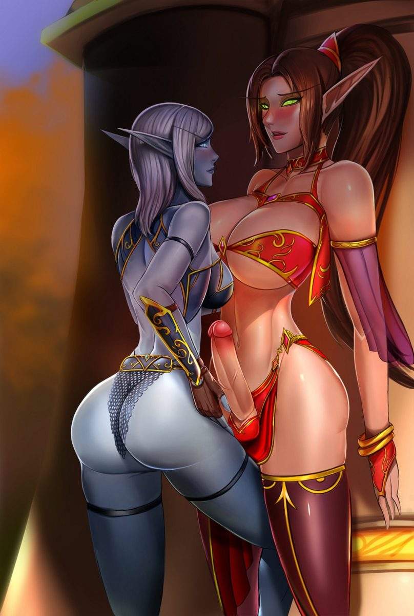 Badcompzero - Futa nearie void elf blood elf world of warcraft porn
