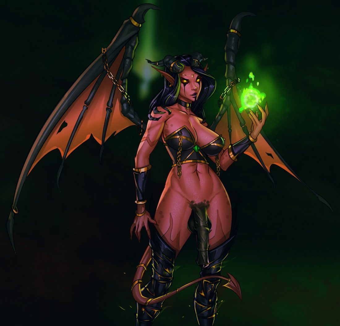 Freli - Futa Xazariel world of warcraft demon 2