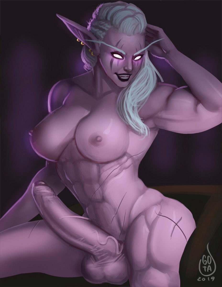 Gotalex - Futanari night elf muscle world of warcraft muscular porn hentai rule 34