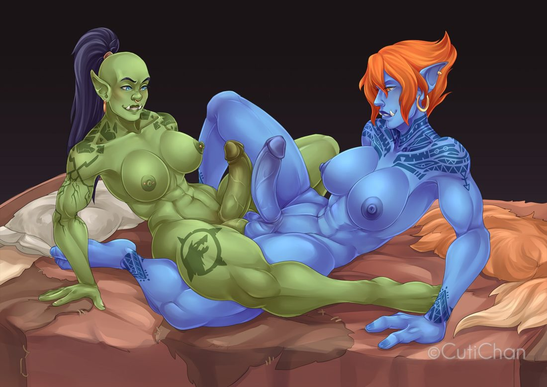 Notcuti - Futanari Orc Troll world of warcraft muscular porn hentai rule 34