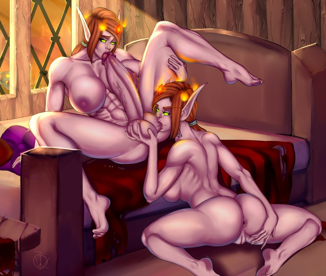 Teteowl - Futa blood elf wow muscular porn hentai rule 34