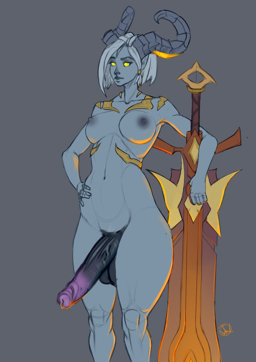 Teteowl - Futanari draenei world of warcraft