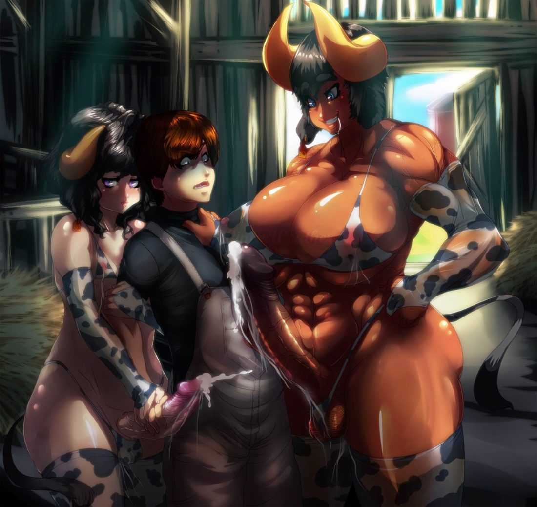 Winterweather - futa on male minotaur cow