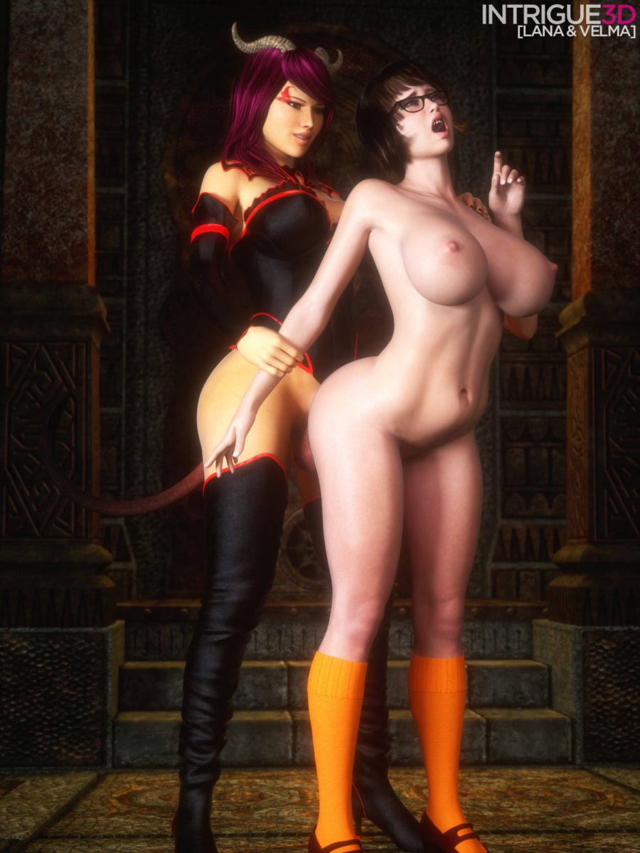Intrigue - Futanari Velma Dinkley Scooby-doo rule 34 porn 3