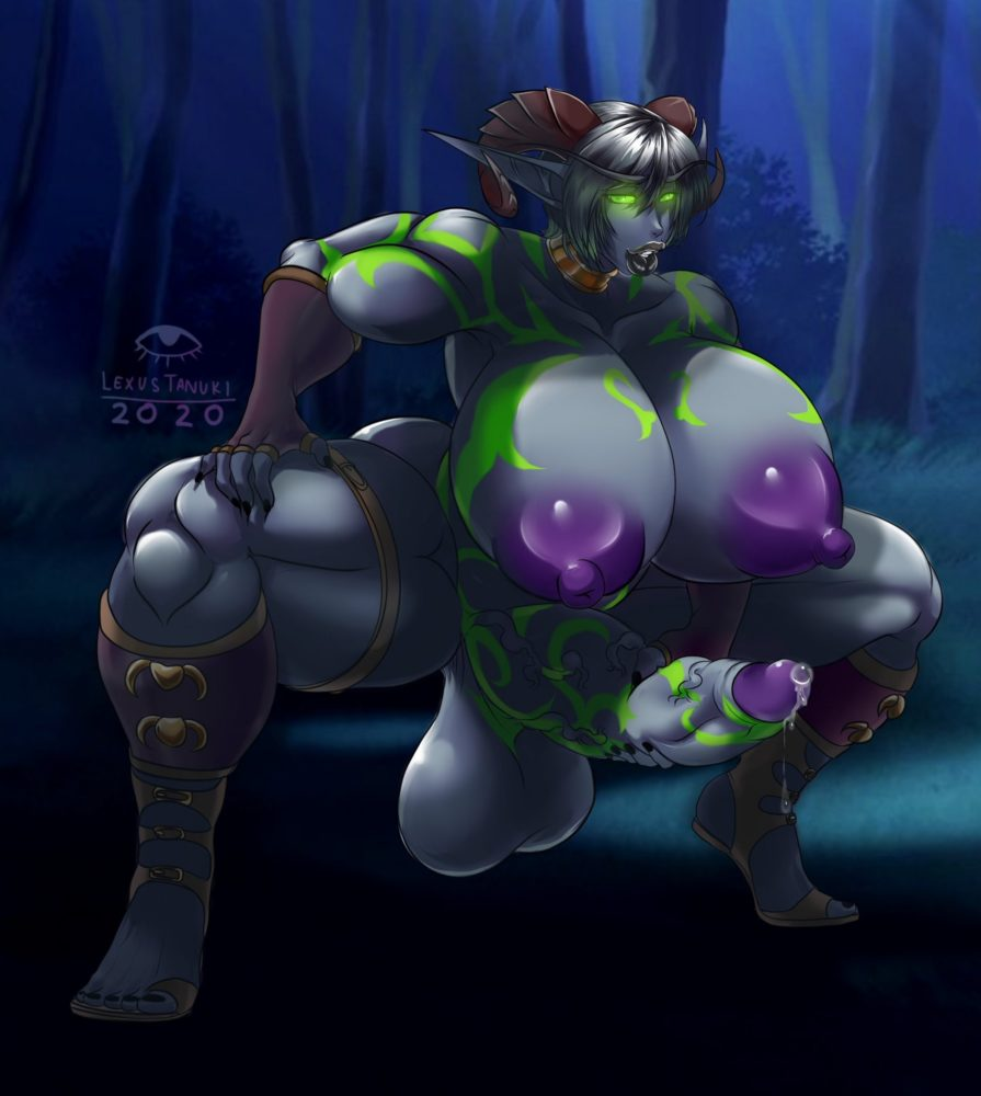 Lexustanuki - Muscular futanari demon hunter night elf porn hentai