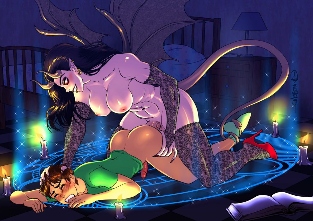 Anasheya - Futa on male hentai porn demon succubus