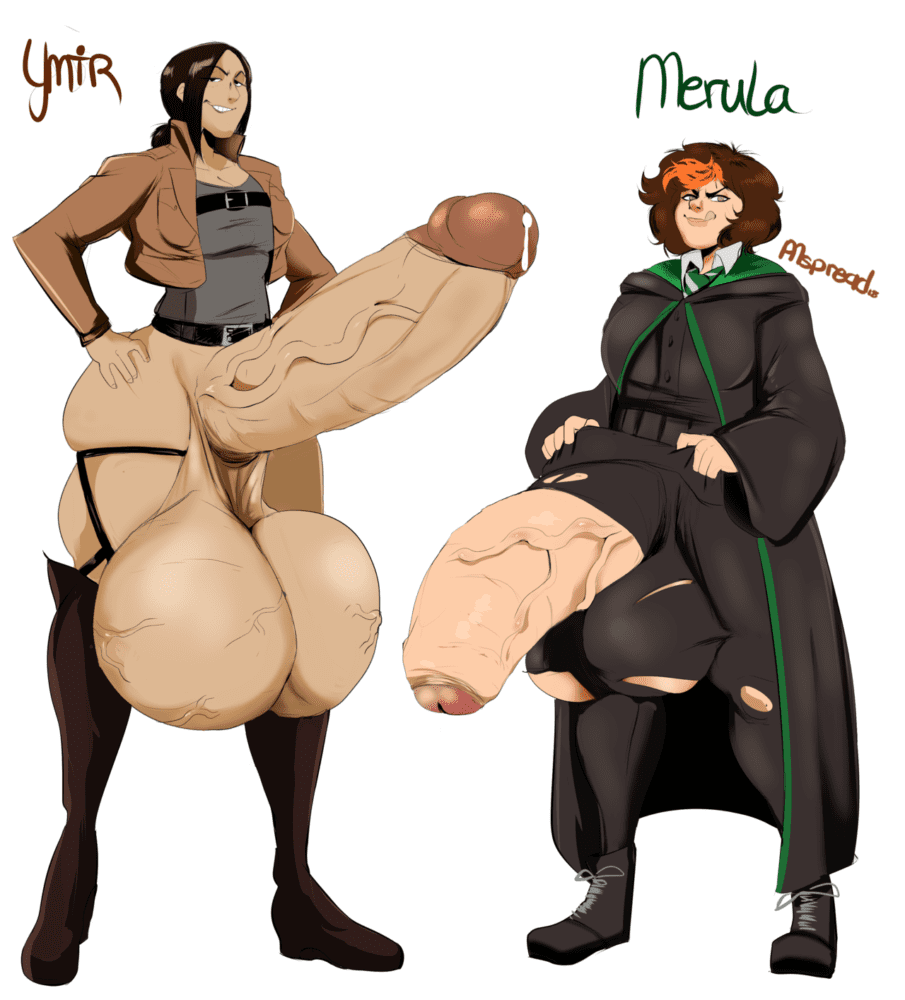 Pumspread - Futanari Ymir Merula Snyde Attack on Titan Harry Potter