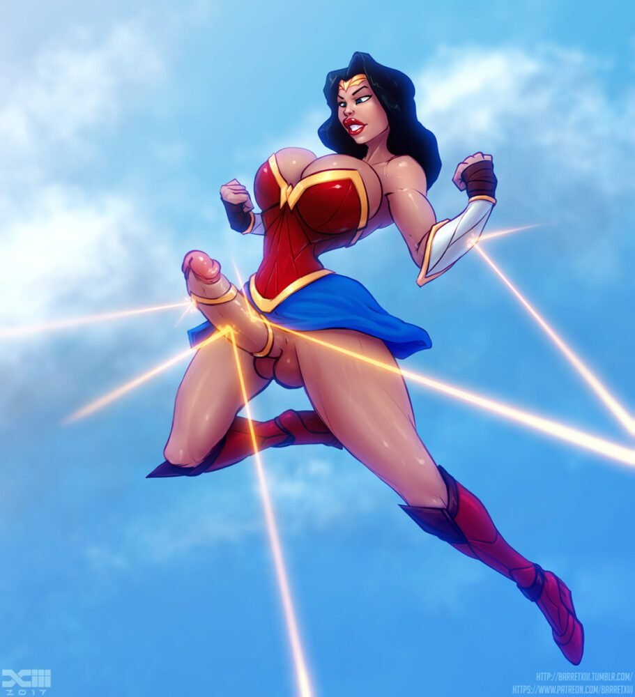 Barretxiii - Futanari Wonder Woman porn