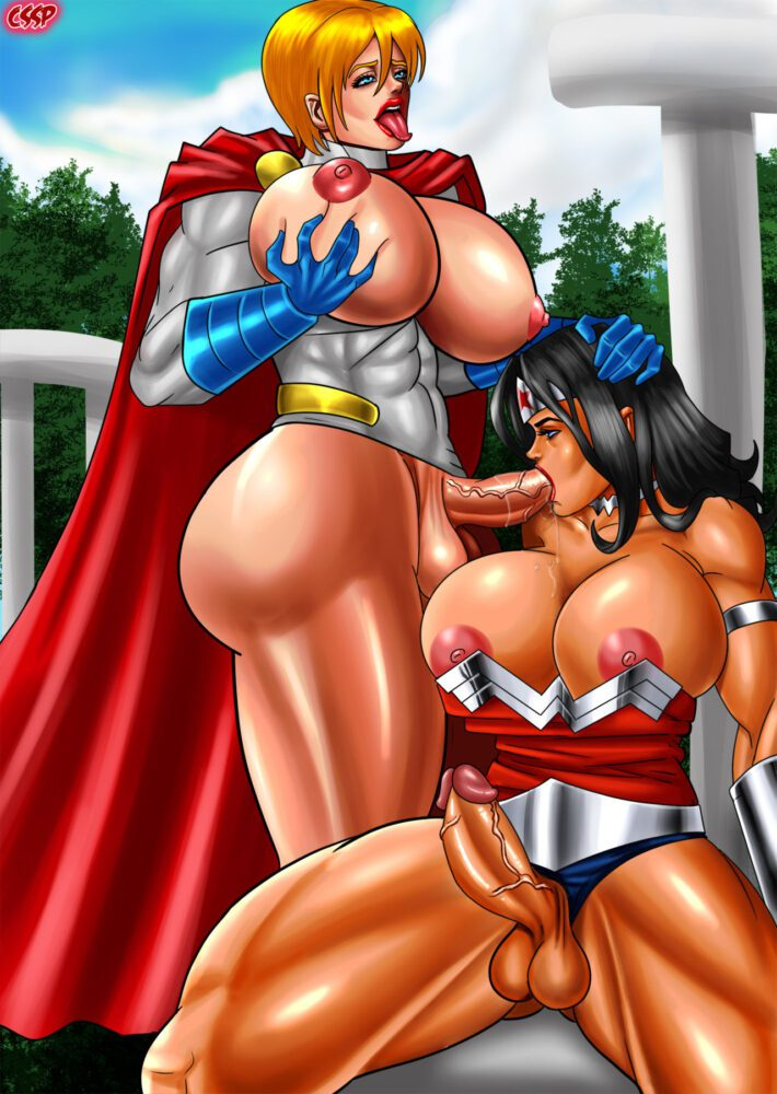 Cssp - Futanari Wonder Woman Power Girl porn