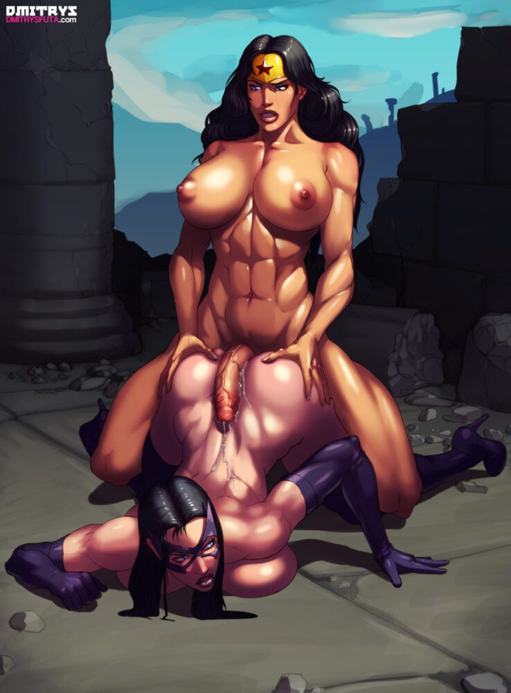 Dmitrys - Futanari Wonder Woman Huntress porn