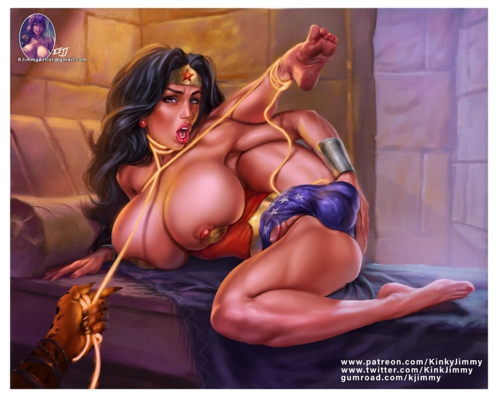 Kinkyjimmy - Futanari Wonder Woman Cheetah hentai