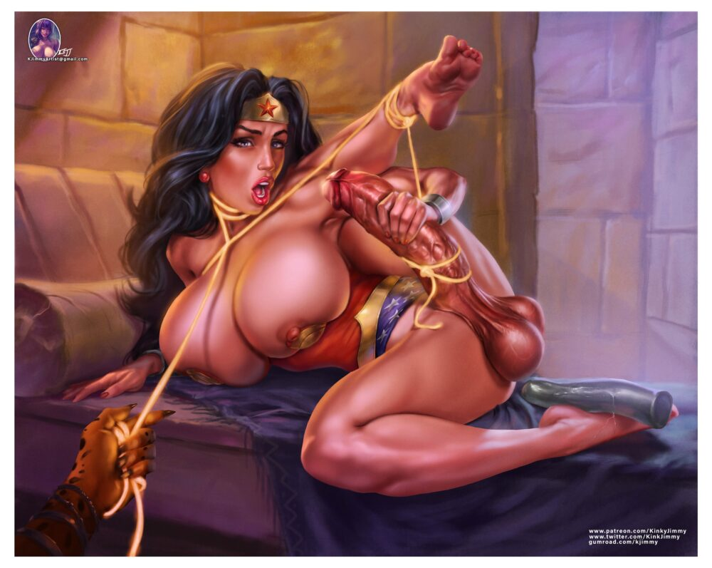 Kinkyjimmy - Futanari Wonder Woman Cheetah porn