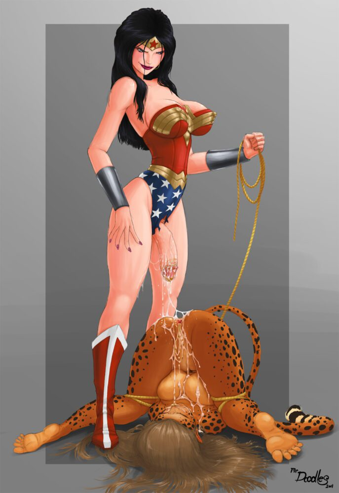 Mrdoodles - Futanari Wonder Woman Cheetah