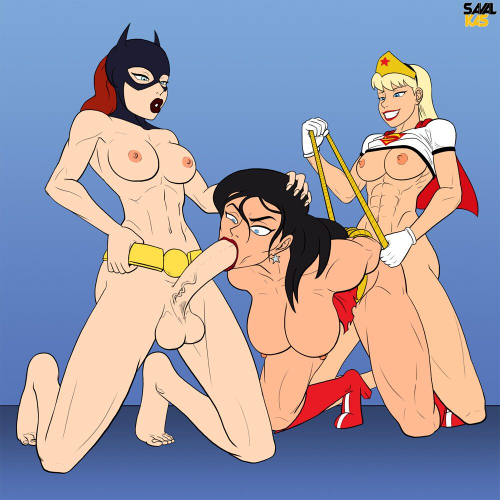 Savalkas - Futanari Wonder Woman Supergirl Batgirl