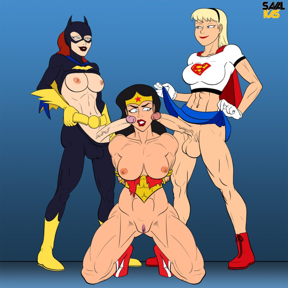 Savalkas - Futanari Wonder Woman Supergirl Batgirl rule 34