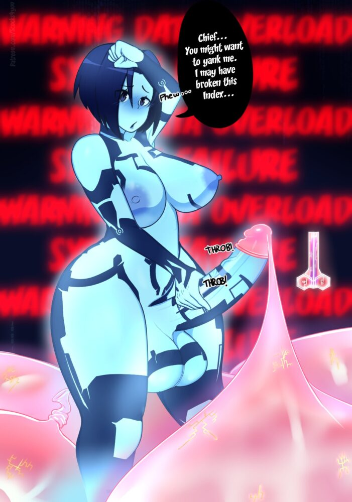 Scocks4you - Futanari Cortana ahegao porn 1