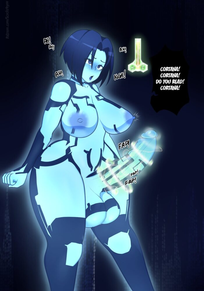 Scocks4you - Futanari Cortana ahegao porn 2