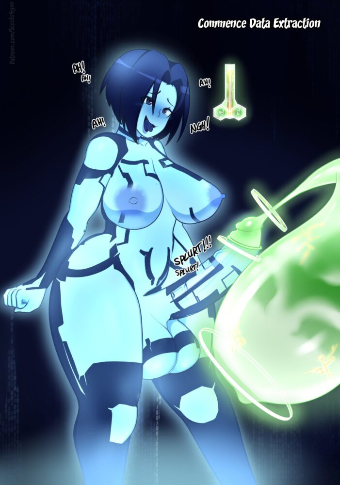 Scocks4you - Futanari Cortana ahegao porn 3