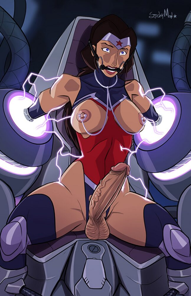 Stickymon - Futanari Wonder Woman porn