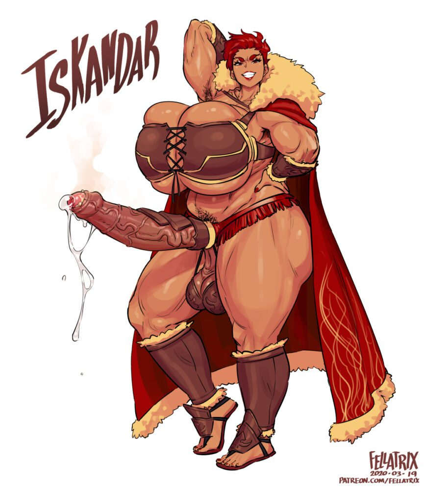 Fellatrix - Muscular futa Iskandar fate grand order porn