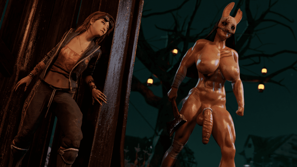 Garean - Muscular futanari Huntress dead by daylight porn