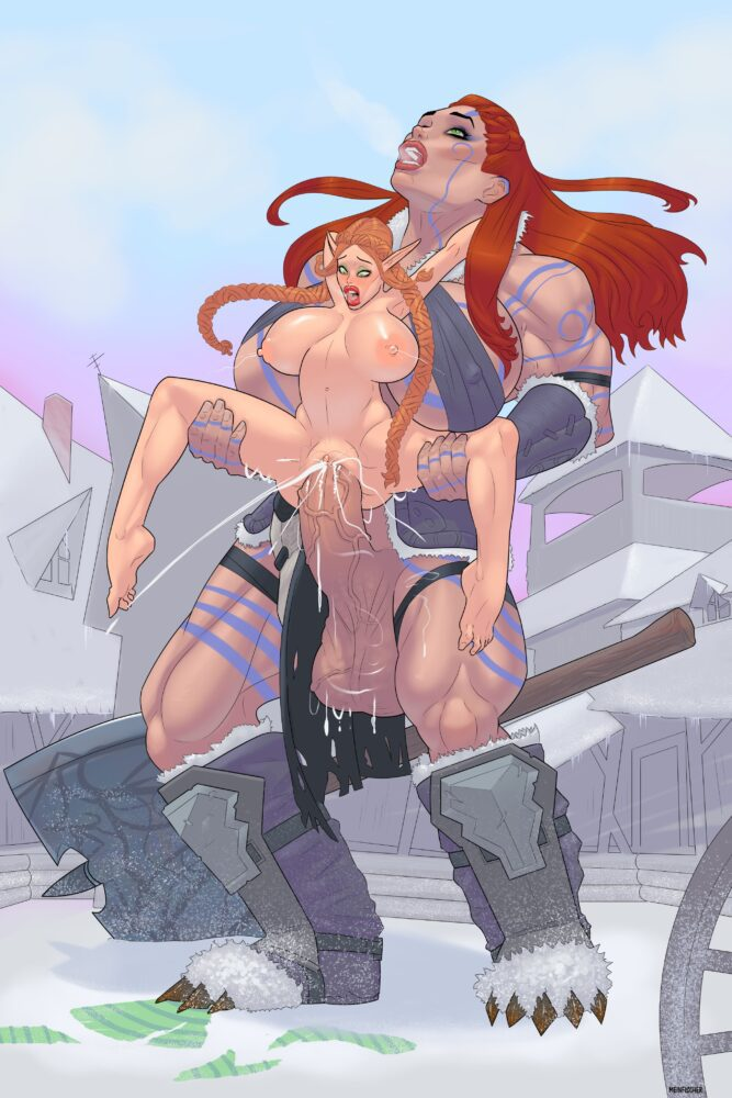 Meinfischer - Muscular futanari giantess barbarian porn